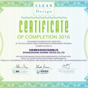 Clean By Design Certificate
