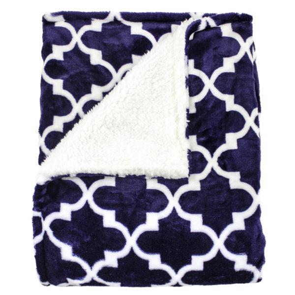 Ultra Soft Navy Gatework Baby Blanket