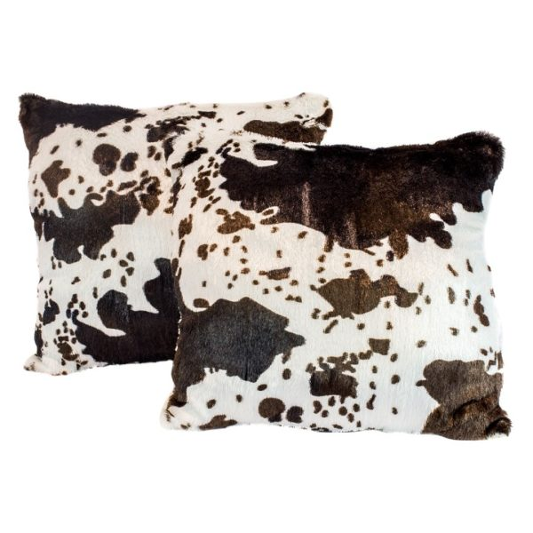 Decorative Animal-Print Throw Pillow with Sherpa Back