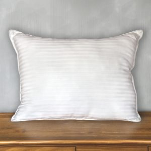 300 Thread Count 100% Cotton Damask Stripe Bed Pillow