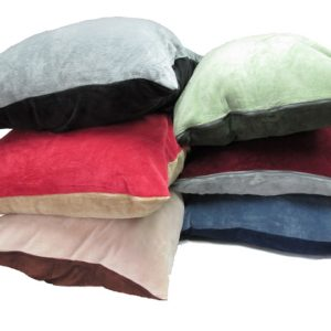 Plush Two-Color Floor Cushion