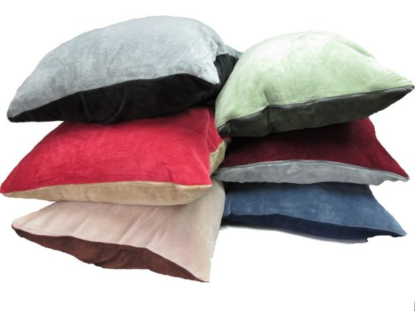 Plush Two-Color Floor Cushion